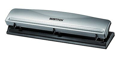Bostitch Office Metal Desktop 3 Hole Paper Punch 12 Sheet Capacity