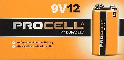 Procell 9 Volt Batteries, Duracell, 12 pack for sale  Shipping to India