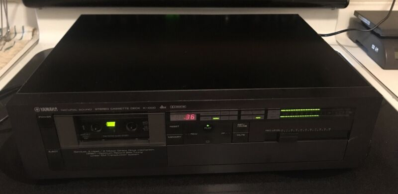 YAMAHA K-1000 3 Head CASSETTE DECK-TESTED AND WORKING
