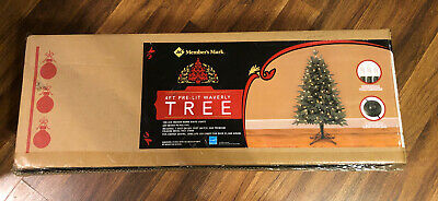 MEMBERS MARK 4ft Pre-Lit Waverly Tree Indoor White Lights Christmas Energy Star