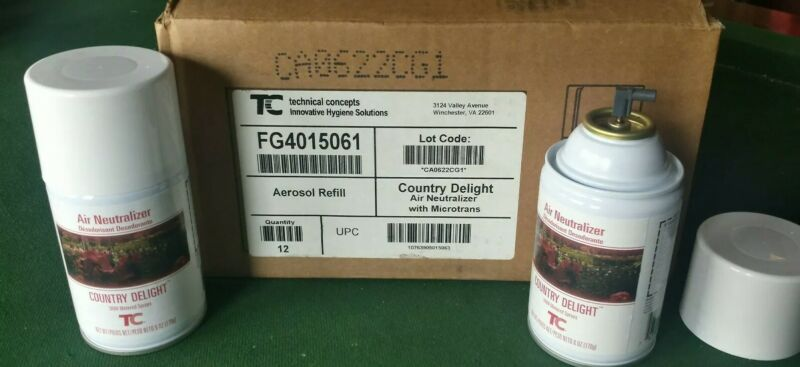 12x Technical Concepts Country Delight Aerosol Refill Commercial Grade Microtran