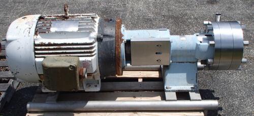 Waukesha Cherry-Burrell Sanitary 2085MS Pump w/40hp Baldor Mtr 12L42Y292G1 Used