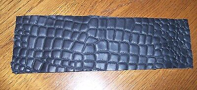 LOOK! BLACK. BROWN. OR AMBER BROWN ALLIGATOR PRINT LEATHER WRAP FOR CUE HANDLE Brown Leather Wrapped Handles