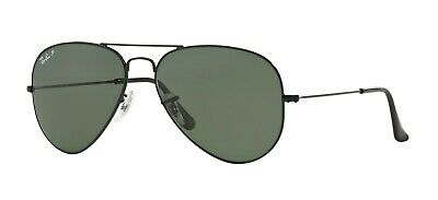 Ray-Ban AVIATOR LARGE METAL RB 3025 Black/G15 Classic Green Polarized