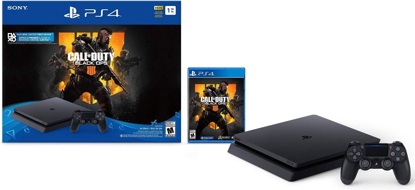 PlayStation 4 Slim 1TB Call of Duty: Black Ops 4 Console Bun