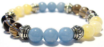 CONCENTRATION AID 8mm Crystal Intention Bracelet w/Description - Healing Stone