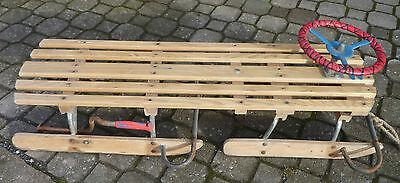DDR Lenkrodel Bob Bobschlitten Rennrodelschlitten Bob Schlitten L=117 cm