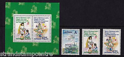 Surinam - 1994 Christmas - U/M - SG 1612-4 + MS1615