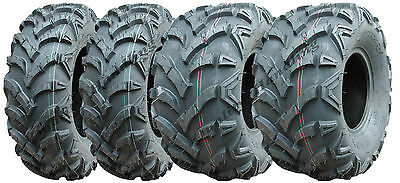 Set of 4 Quad tyres 22x10-9 & 22x7-11 'E' Marked road legal ATV tires front rear
