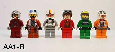 Lego Star Wars Pilot Minifigure Lot Of 5 Variety Pack