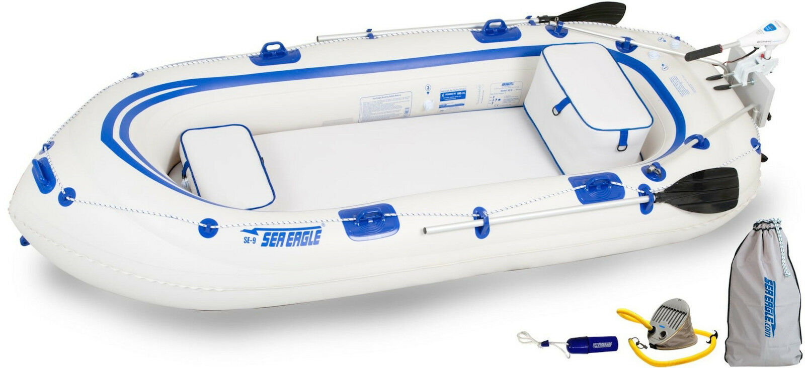 Sea Eagle Se9 Watersnake Motor Package Inflatable Runabout B