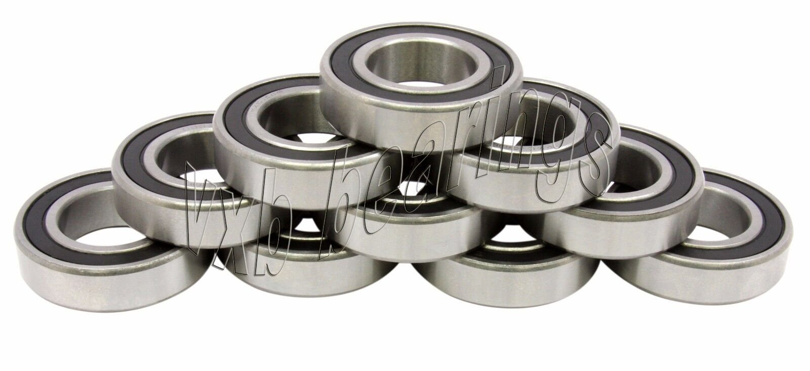 "1//4/"" x 1//2/"" x 3//16/"" Chrome Metal Rubber Sealed Ball Bearings 10pcs R188-2RS"