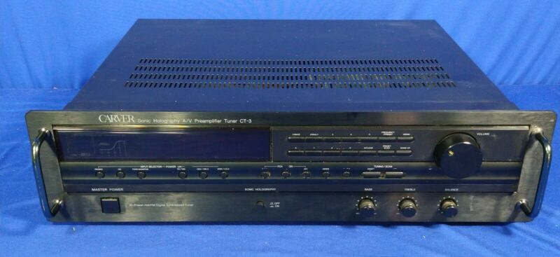 CARVER CT-3 STEREO PRE AMPLIFIER W/BUILT IN TUNER
