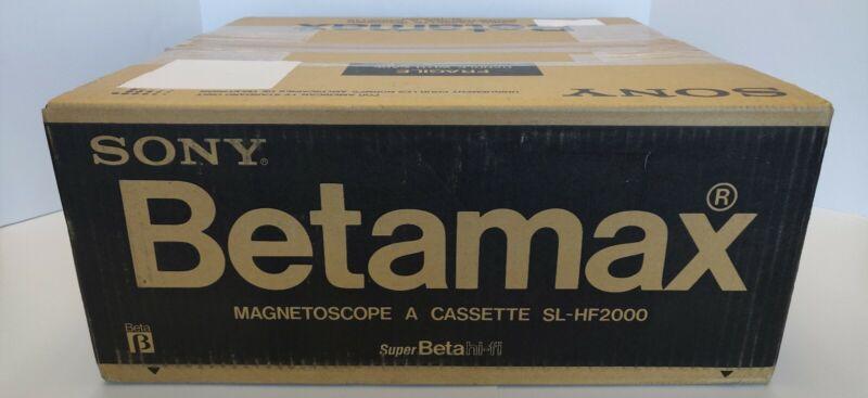 Wow Factory Sealed New! SONY BETAMAX SuperBeta Hi-Fi SL-HF2000 Magnetoscope