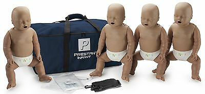 Prestan Infant Aed Cpr Manikins With Monitors - 4 Pack Dark Skin