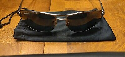 Ray Ban AVIATOR SILVER 64mm w Brown Blue Gradient Sunglass RB 3387