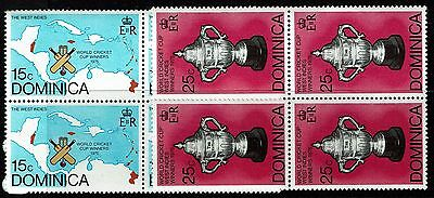 Dominica SC# 492 & 493, Mint Never Hinged, Blocks of 4, see notes - Lot 021917