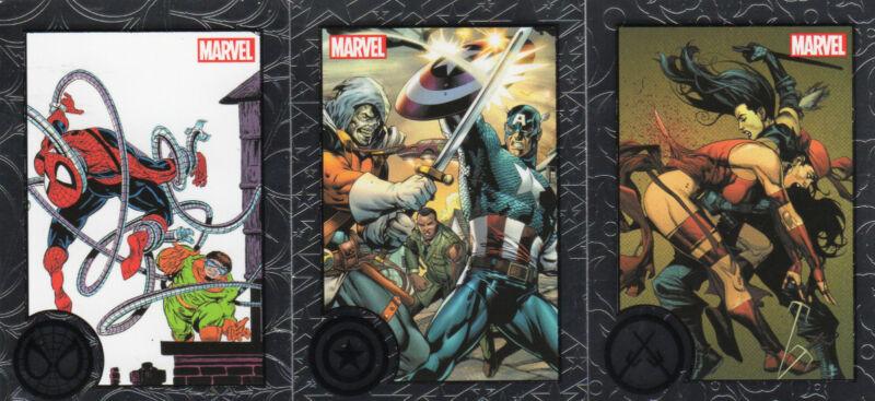 Marvel Greatest Battles complete 90 card silver base set