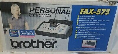 Brother Fax-575 Personal Plain Paper Fax Phone And Copier - New Open Box F4