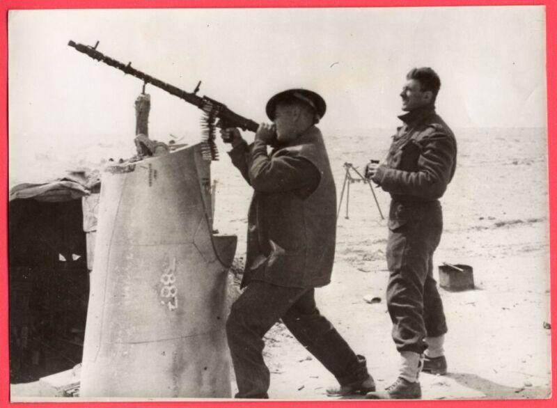 1942 South African Use Captured MG-34 Anti-Aircraft Gun Original News Photo