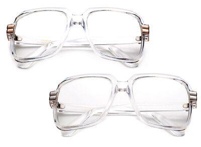 Square Geek Nerdy Clear Lens Glasses DMC Gazelle Retro Fashion UV100% (Square Geek Glasses)