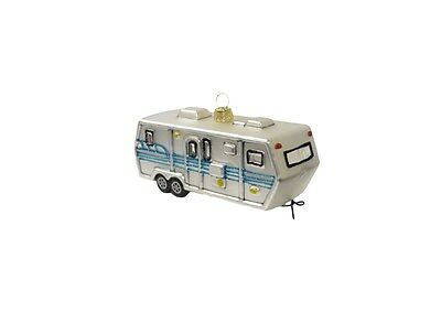 RV Travel Trailer Christmas Tree Ornament Camping Ornament (Glass Ornament)](Camping Ornaments)