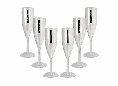 Scavi & Ray Sekt Acryl Glas / Prosecco Gläser Set - 6x Flöten Gläser aus Kunsts