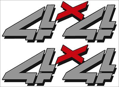 4X4 Replacement Logo / PAIR / Gray RX Vinyl Truck Chevy GMC Graphic Decal -