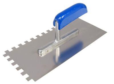 Zahnglättekelle - 280 x 130 mm, Zahnung 10 x 10 mm, rostfrei