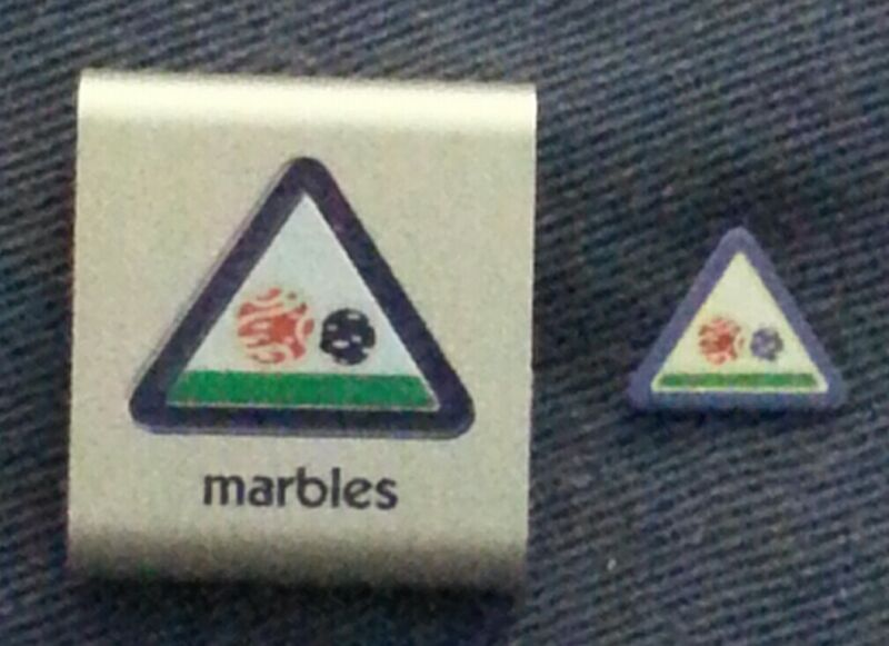 MARBLES - PIN & LOOP - NEW - RETIRED CUB SCOUT SPORT PROGRAM A01740