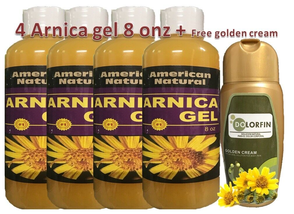 ARNICA MONTANA GEL 8Oz PAIN RELIEF BRUISES MUSCLE ACHES NATURAL free