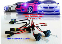 2PCS H10 35W AC 3000K GOLDEN YELLOW  XENON BULB HID