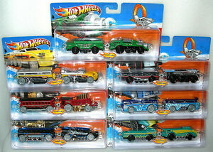 Hot-Wheels-Rapid-Transit-Trick-Track-Stunt-Train-amp-Carriage-Asst-BNIP