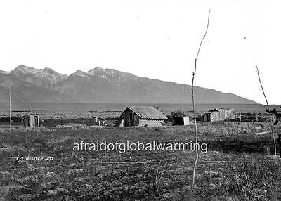 Photo 1870 House On Range By Wasatch Mountains