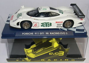 fly 113 07050 slot car porsche 911 gt1 98 racing evo3 jever blanco mb ebay. Black Bedroom Furniture Sets. Home Design Ideas