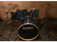 Blue Mapex M-Series 5 Piece Drumkit With Added Extras