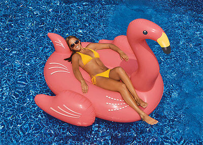 Swimline 90627 Giant Inflatable Swimming Pool Ride-On Flamingo Float