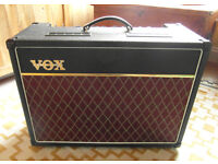 Vox AC15C1 tube guitar amp (with Roqsolid cover plus full set of spare tubes)