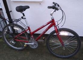 Trek Bike With Aluminum Frame, Seat Suspension, Good Tyres