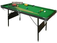 BCE 6' Folding snooker table (library picture as guide)