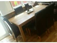 Lindos dining table and 6 darcy chairs