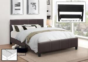 FULL SIZE BED - BEST SELECTION OF PLATFORM BEDS ON OUR WEBSITE- WWW.KITCHENANDCOUCH.COM (BD-1073)