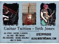 Beth Jones - Guitar tutor