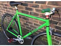 52cm Single speed road bike free wheel /fixie fixgear flip flop wheels
