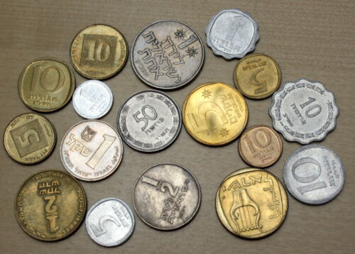 Israel: Lot of 17 Different Coins