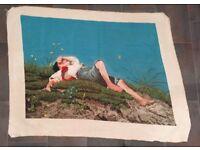Handmade Needlepoint Gobelin (Tapestry) 'The Shepherd Boy'