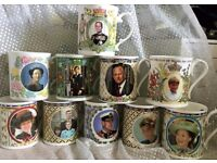 COLLECTION OR 50 ROYAL FAMILY MUGS