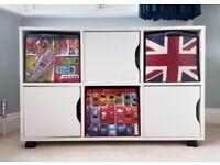Aspace Children's Kid's White Toy Storage Unit Cupboard