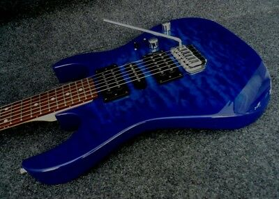 Top Solid Body Electric Guitar - IBANEZ GRX70QA-TBB SOLID BODY ELECTRIC GUITAR super QUILT TOP Trans blue burst