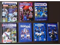 Official Glasgow Rangers FC Annuals 2002, 2003, 2004, 2005, 2006, 2007, 2008 Rangers All-Time Greats